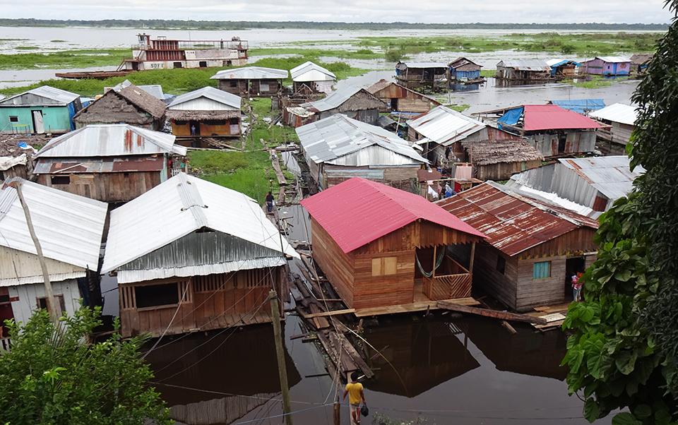 Floating community on the Amazon