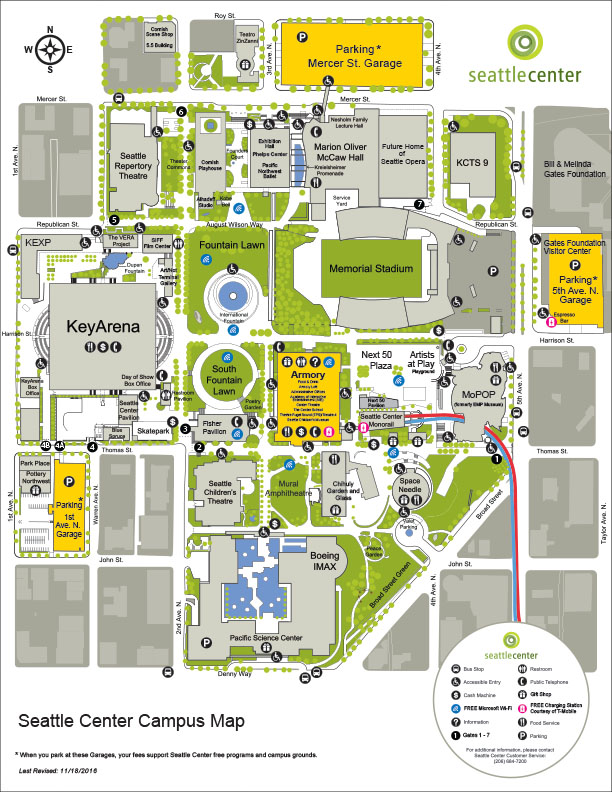 Seattle Center Map Seattle Center Campus Map –