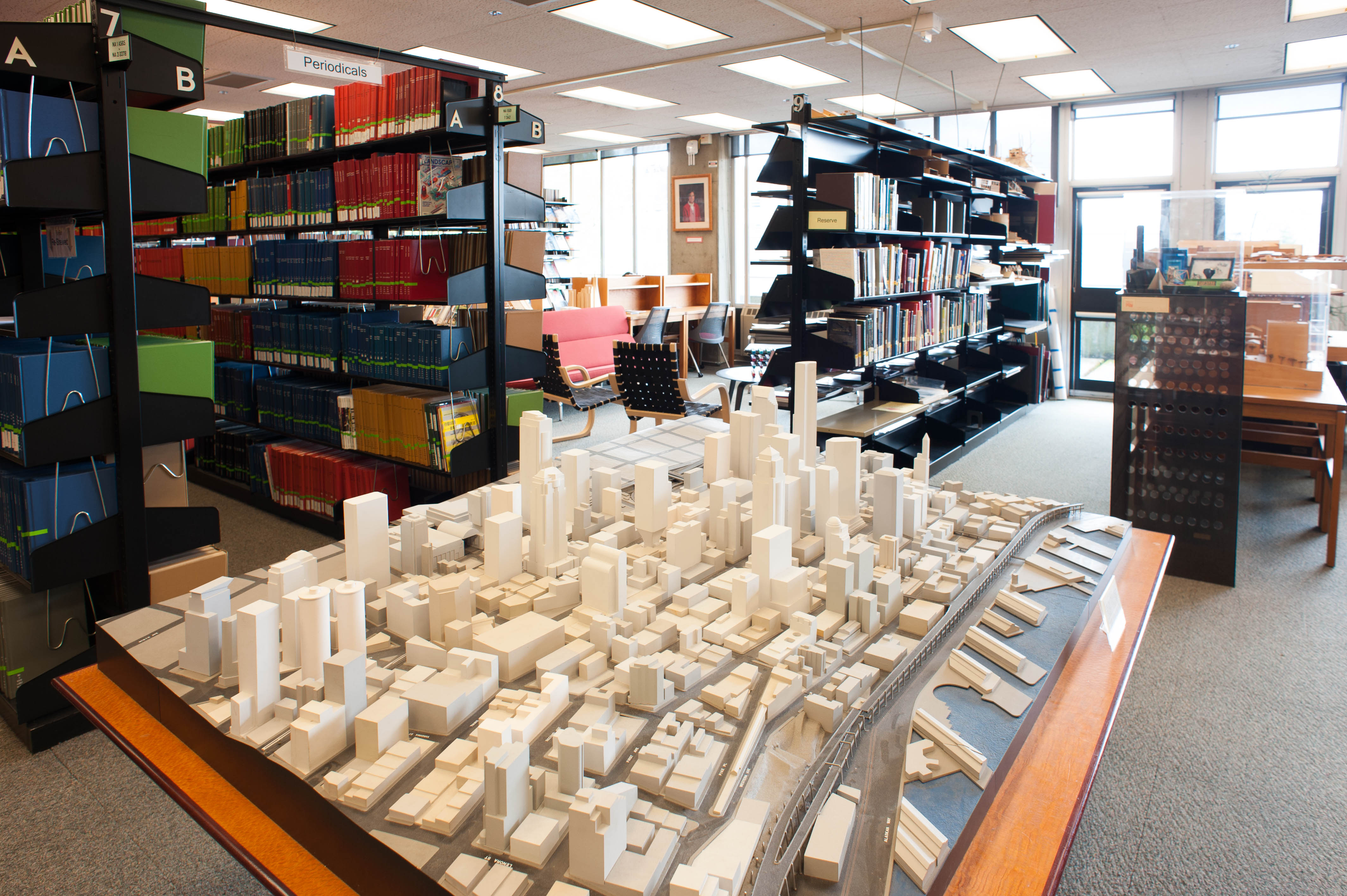 A model of downtown Seattle in the Built Environments Library.